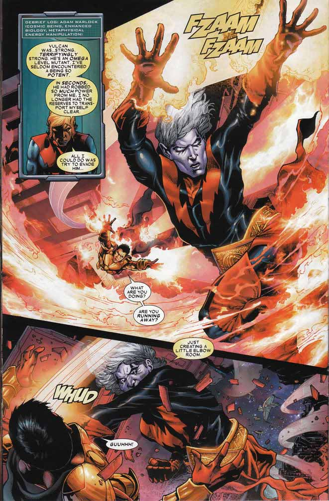 x-men: warlock vs vulcan