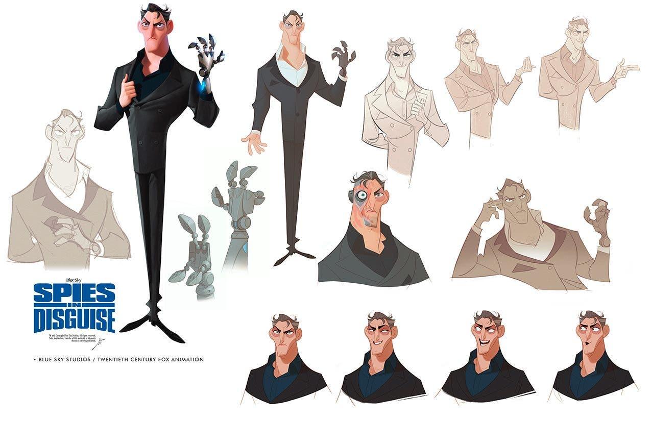 Killian villano de Espías con disfraz (Spies in disguise) diseñado por José Manuel Fernández Oli
