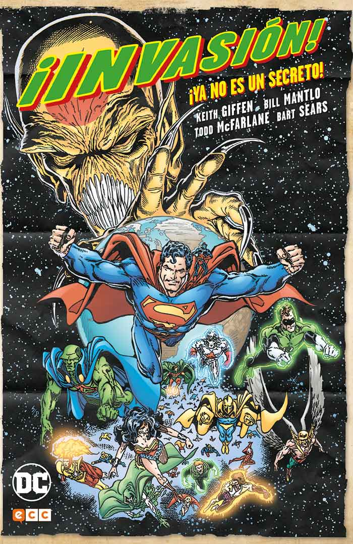 PORTADA ¡invasión! DC Comics