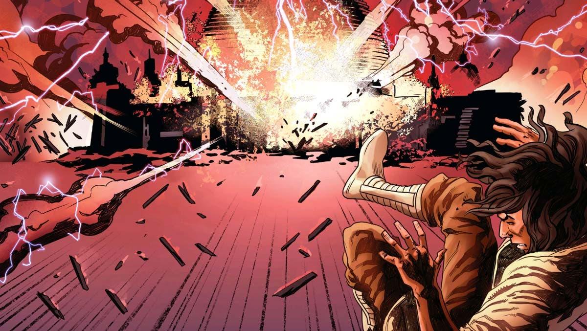 destrucción templo jedi en Star Wars: The Rise of Kylo Ren