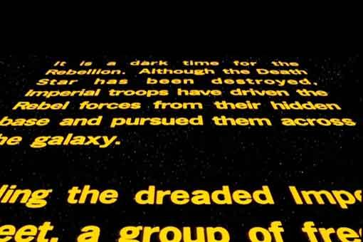 Filtran las letras iniciales de Star Wars: El ascenso de Skywalker