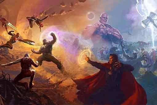 Ilustración de ryan meinerding para Vengadores: endgame
