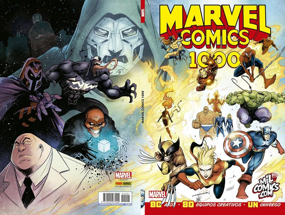 marvel comics 1000 portada especial milcomics