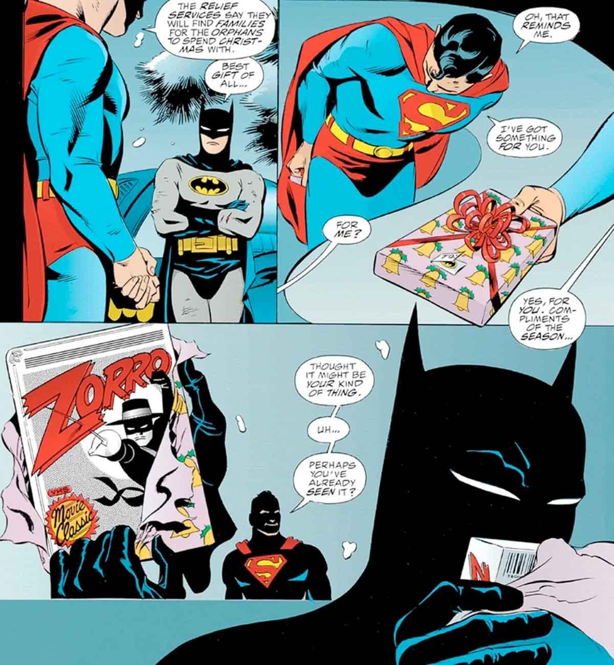 Superman le da a Batman el peor regalo de Navidad de la historia