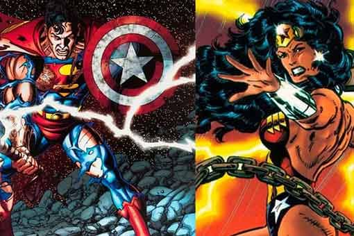 superman y wonder woman thor