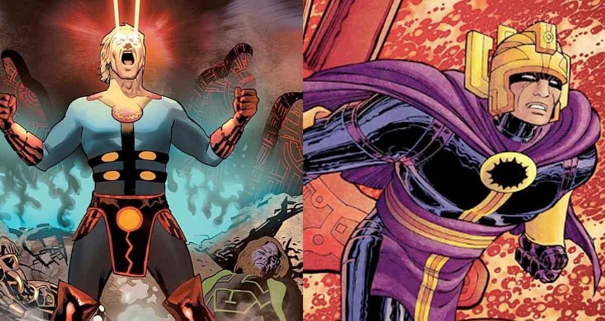 Filtran el aspecto de dos superhéroes de Los Eternos de Marvel