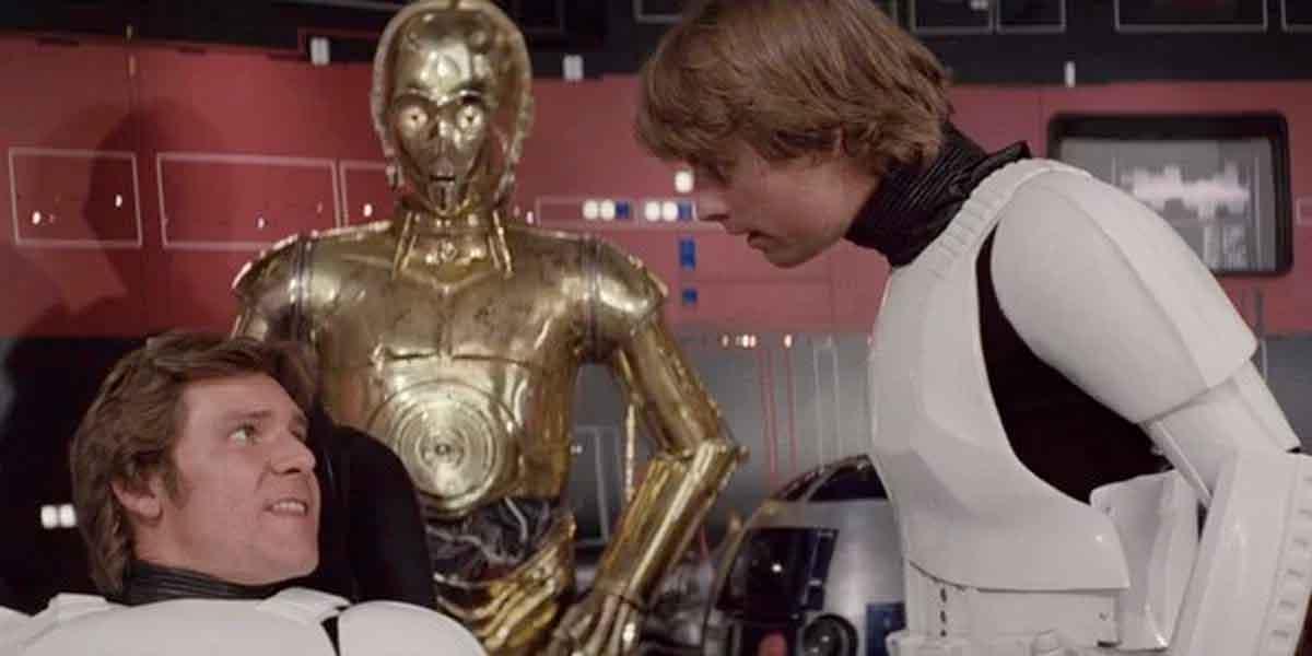 Mark Hamill se ríe de una escena de la trilogía original de Star Wars