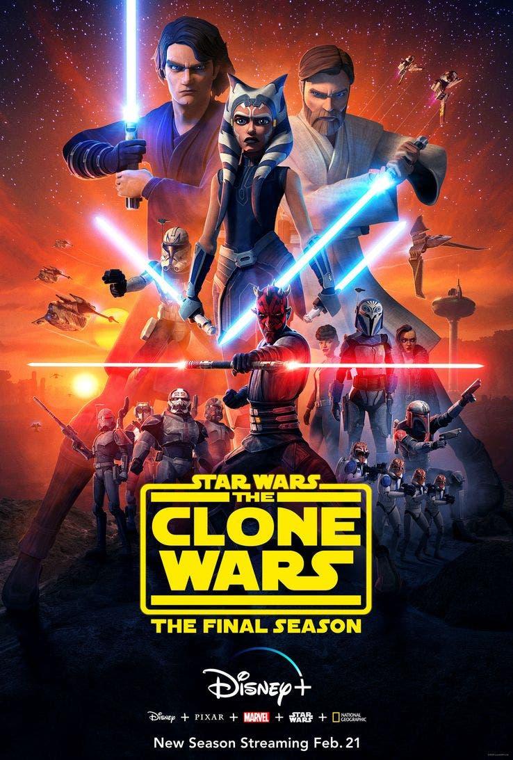 Ahsoka Tano la gran protagonista del póster de la temporada final de Star Wars: The Clone Wars