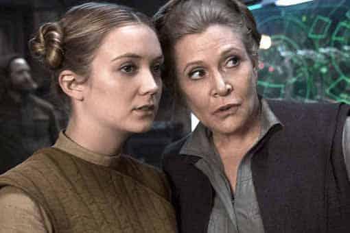 Star Wars: El ascenso de Skywalker. Billie Lourd hizo de Leia en algunas escenas