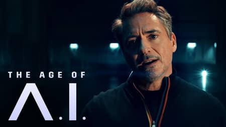 the age of AI Tony Stark (Robert Downey Jr.)