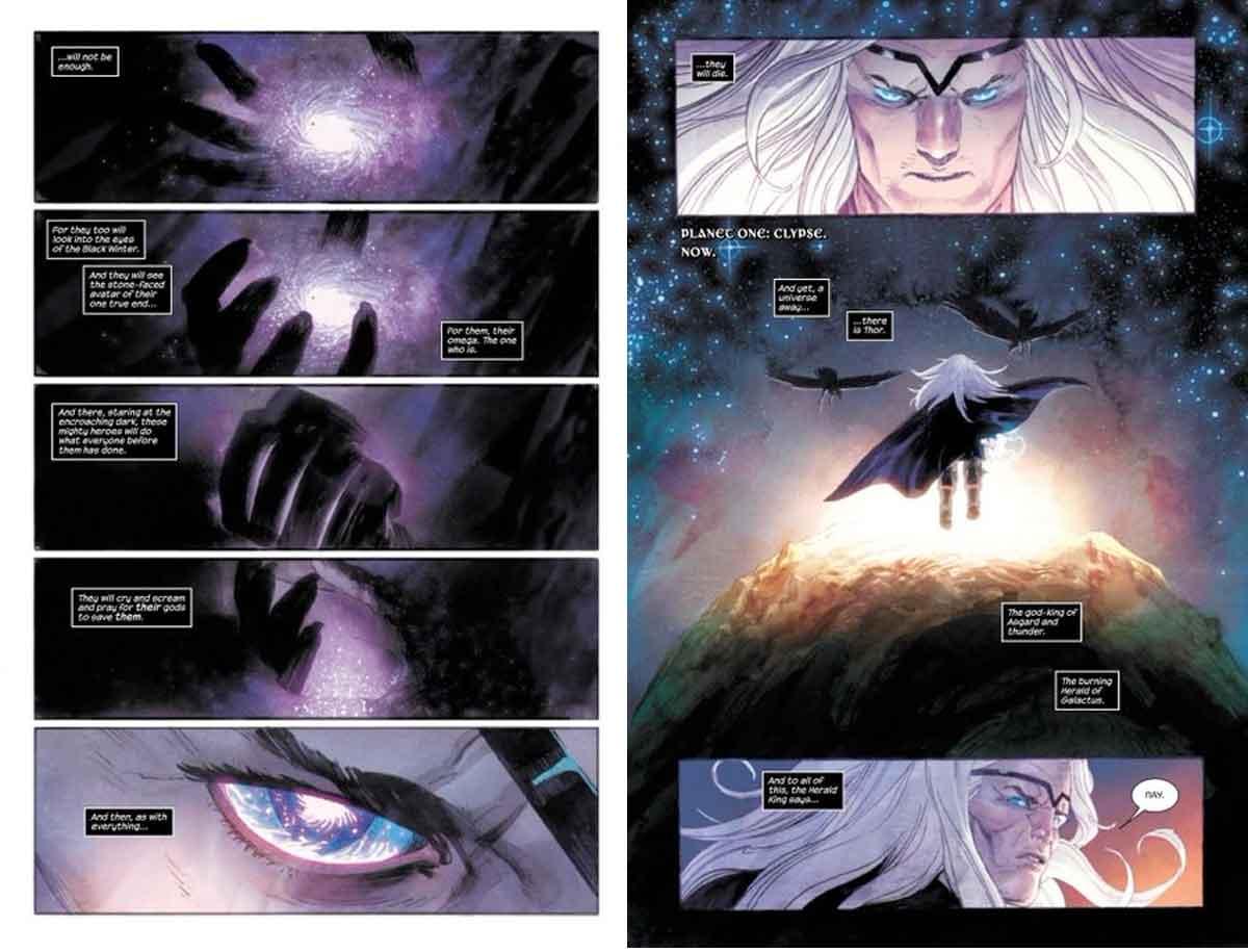 Thor destruye a la Liga de la Justicia y el Universo DC Comics