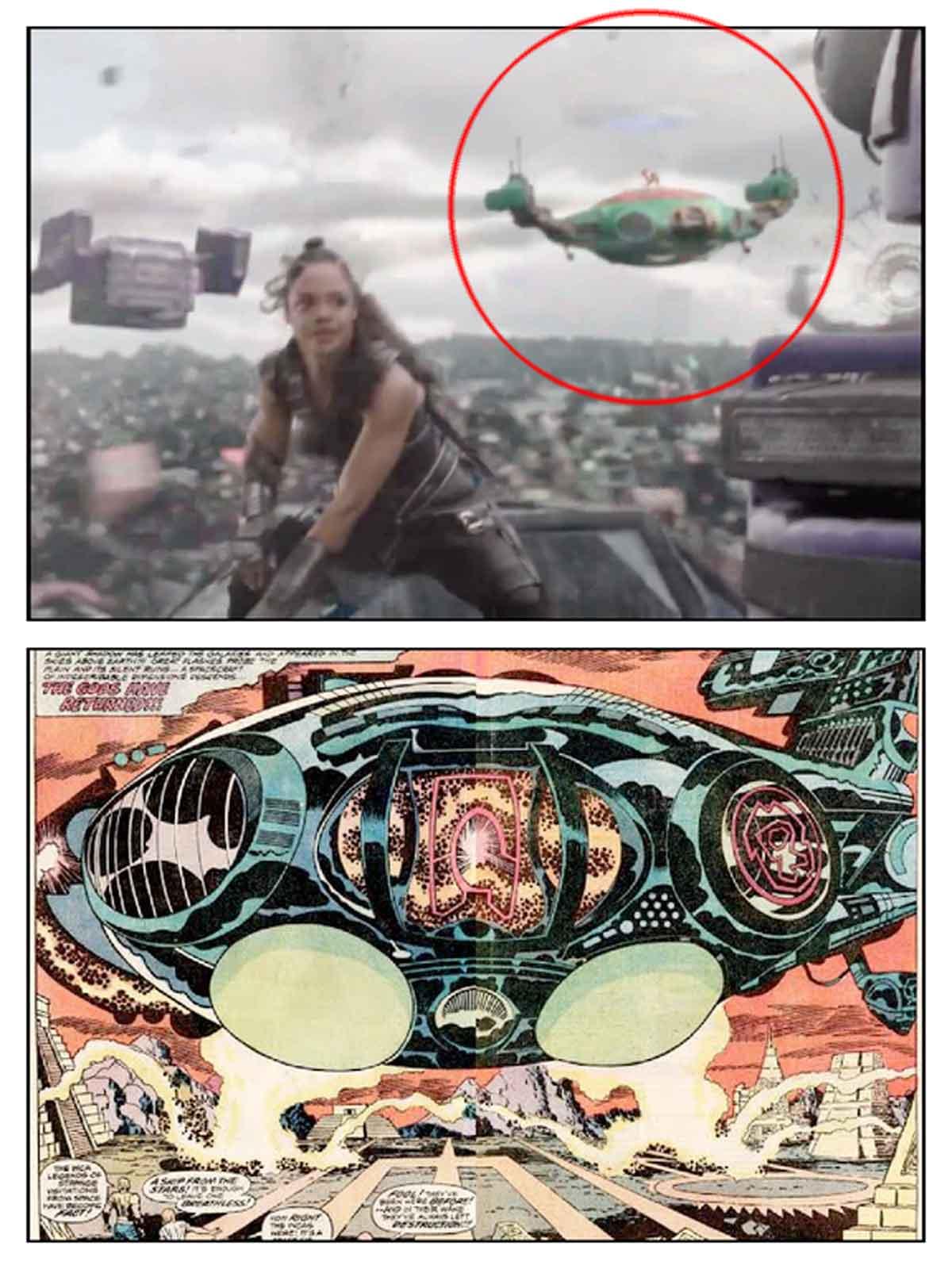 Thor: Ragnarok (2017) tiene una referencia a la película de Marvel Los Eternos (2020)