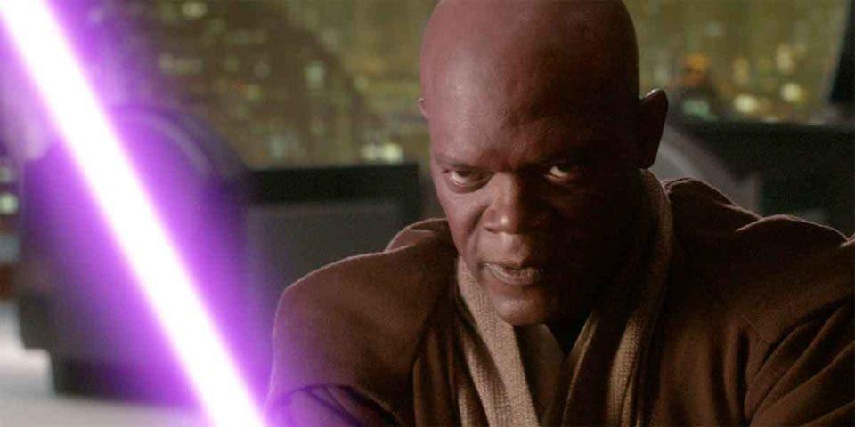 Así pidió Samuel L Jackson que su sable fuera morado en Star Wars