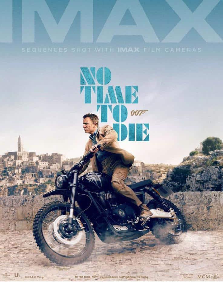 poster IMAX de James Bond sin tiempo para morir