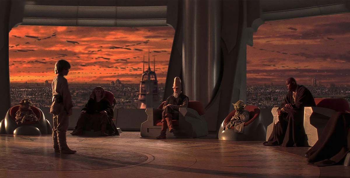 Star wars: La Amenaza Fantasma. Consejo Jedi