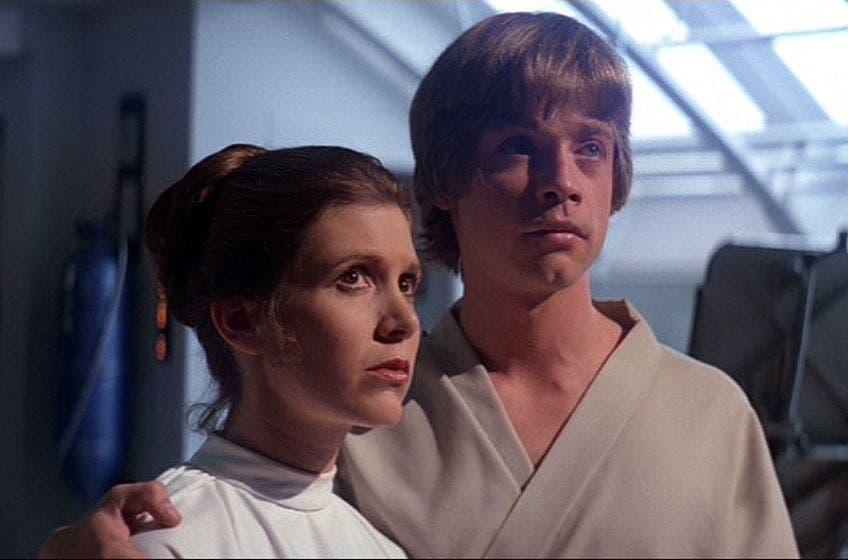 star wars: Luke y Leia