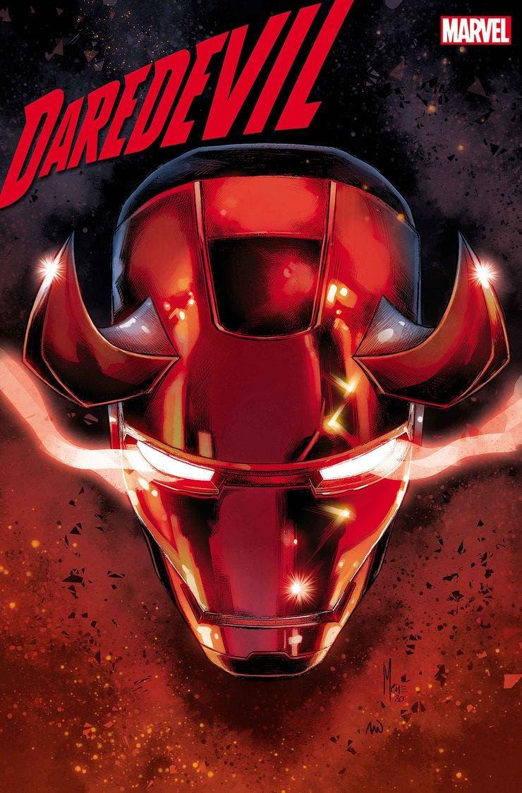 Portada Daredevil con armadura de Iron man
