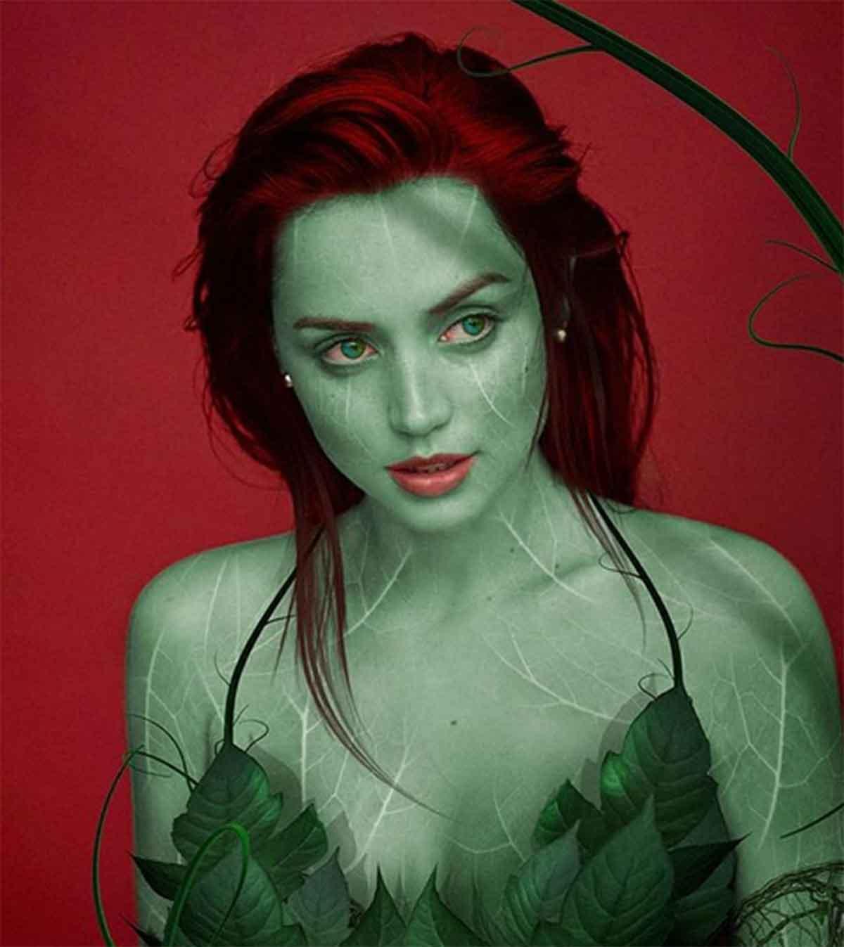 Espectacular Fan Art de Ana de Armas como Hiedra Venenosa (Poison Ivy)