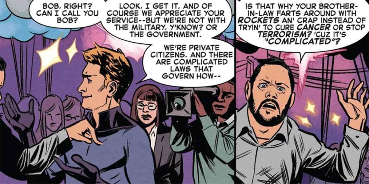 Antorcha Humana / Johnny Storm se enfrenta a la gran duda de los héroes