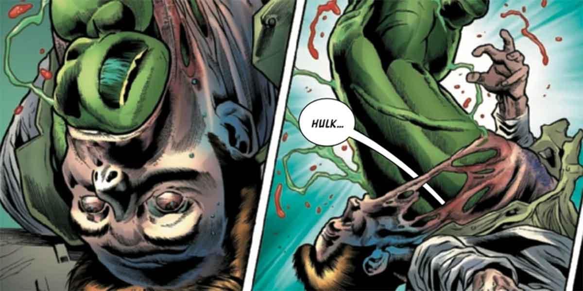 Así es la transformación de Hulk más desagradable y gore