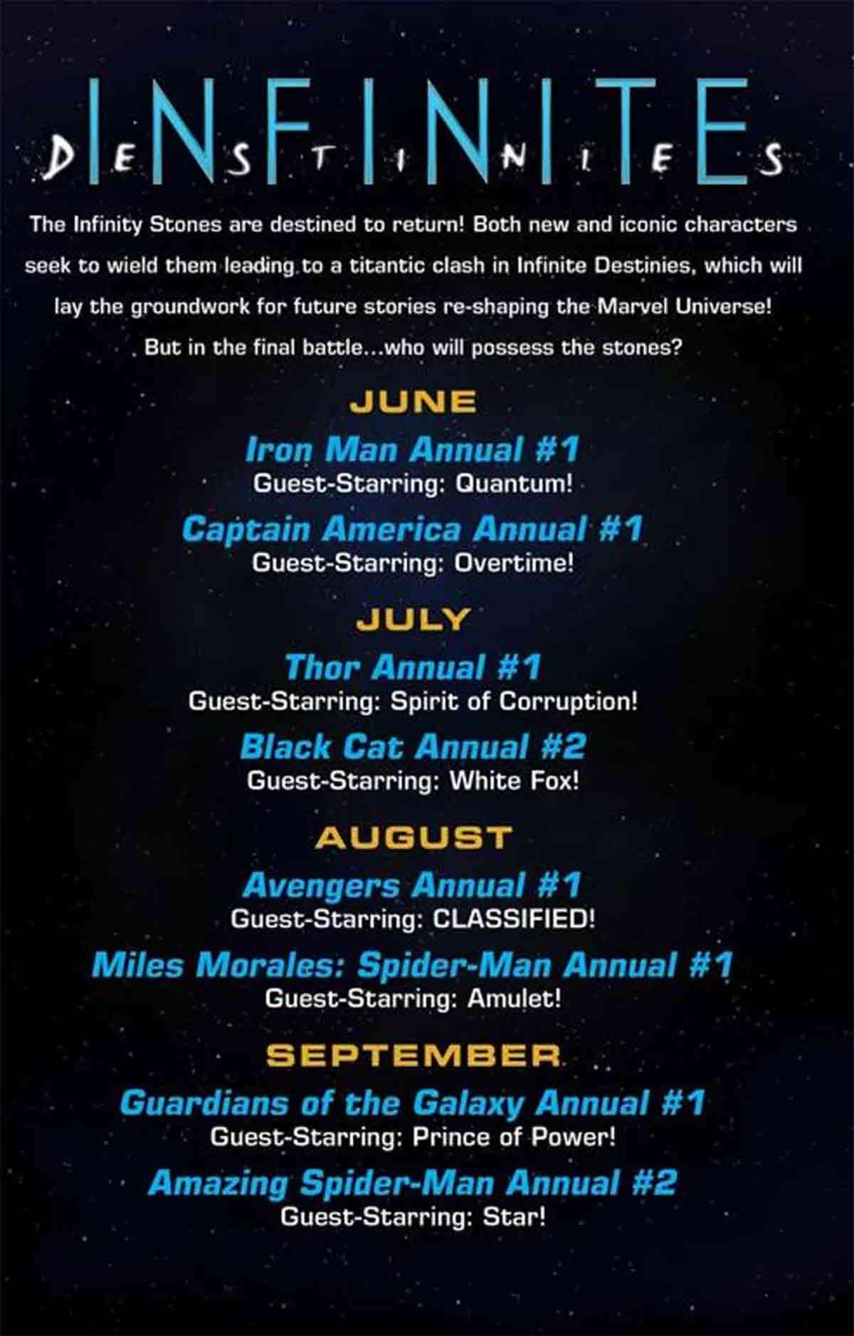 Las Gemas del Infinito regresarán a los héroes de Marvel