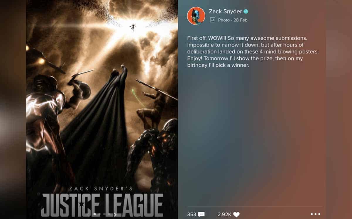 """Liga de la Justicia: Zack Snyder lanzó varios posters de su """"Snyder Cut"""""""