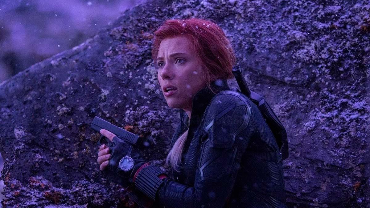 Fotograma de Vengadores: Endgame con Black Widow en Vormir
