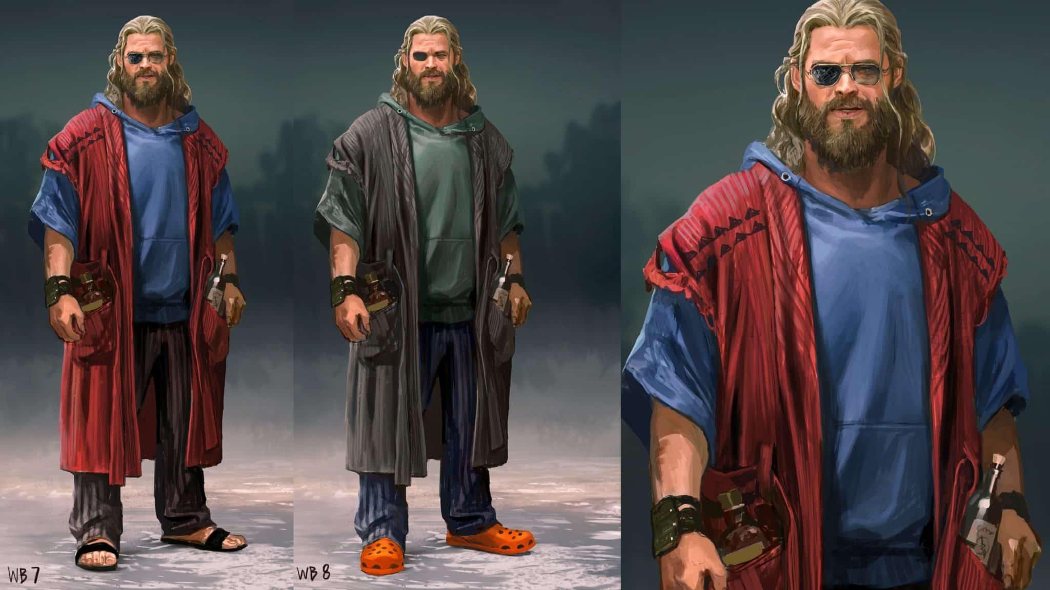 Diseño de Thor Gordo para Vengadores: endgame