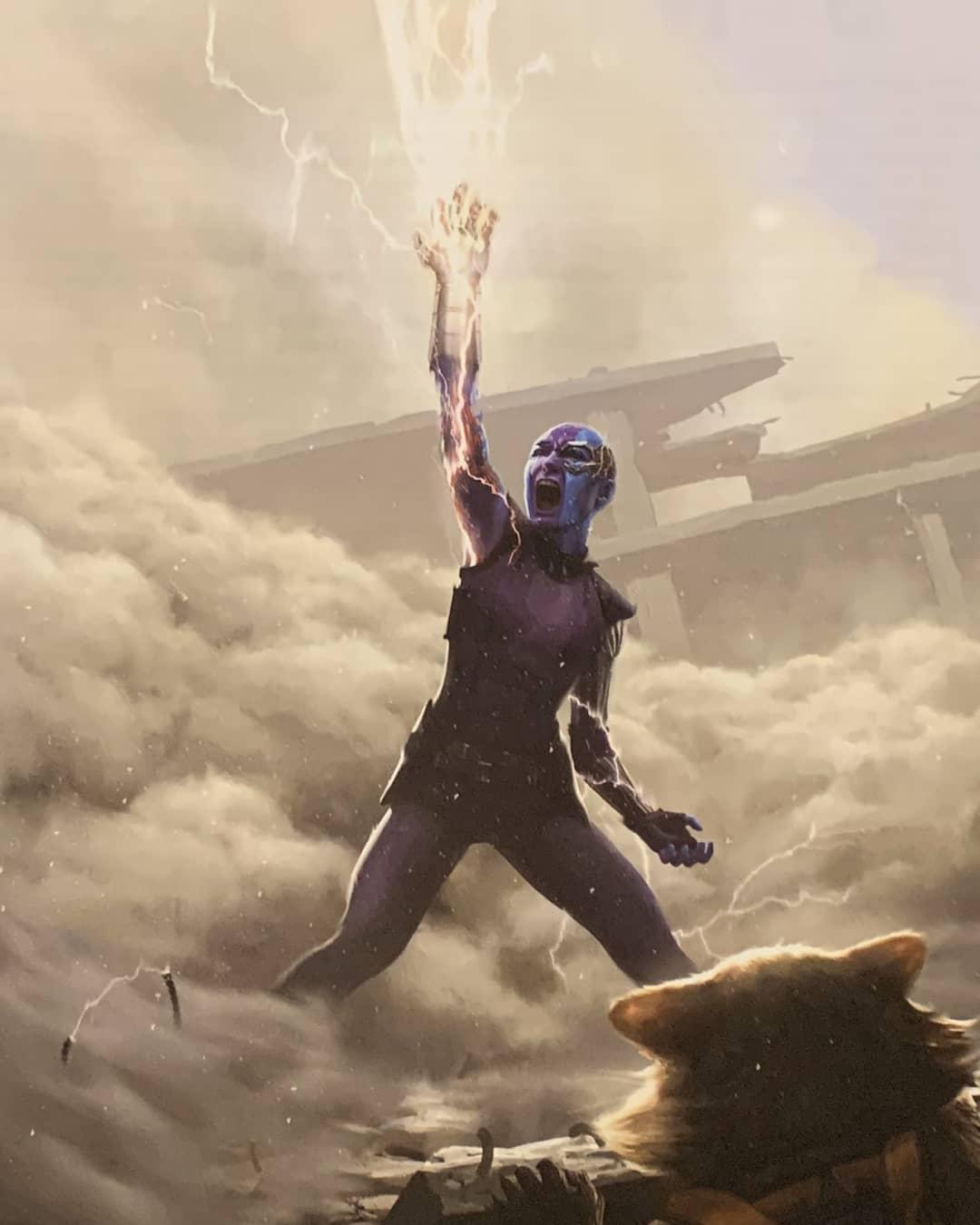 concept art nebula Vengadores: Endgame