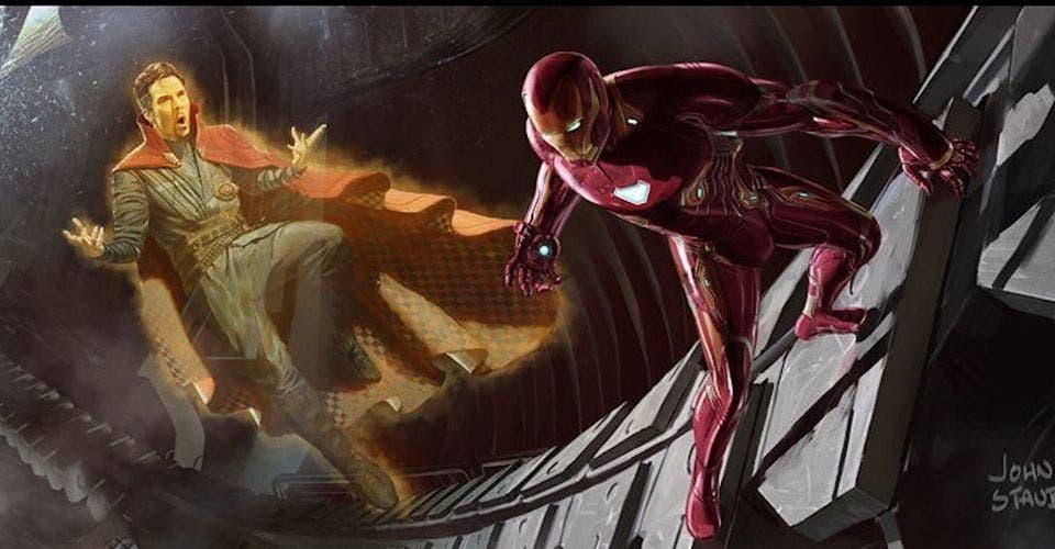 Proyección Doctor-Strange con Iron-Man en Vengadores: infinity war