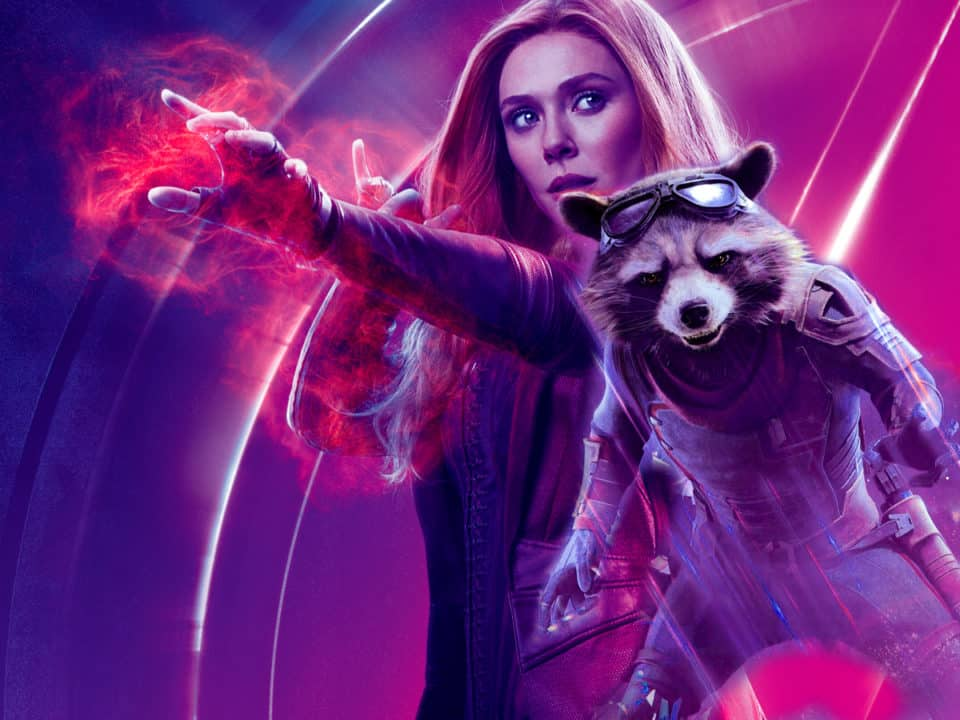 Vengadores: endgame. Wanda y Rocket