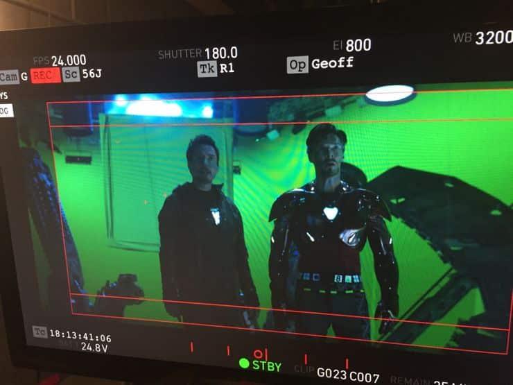 Vengadores: infinity war doctor strange con armadura de iron man