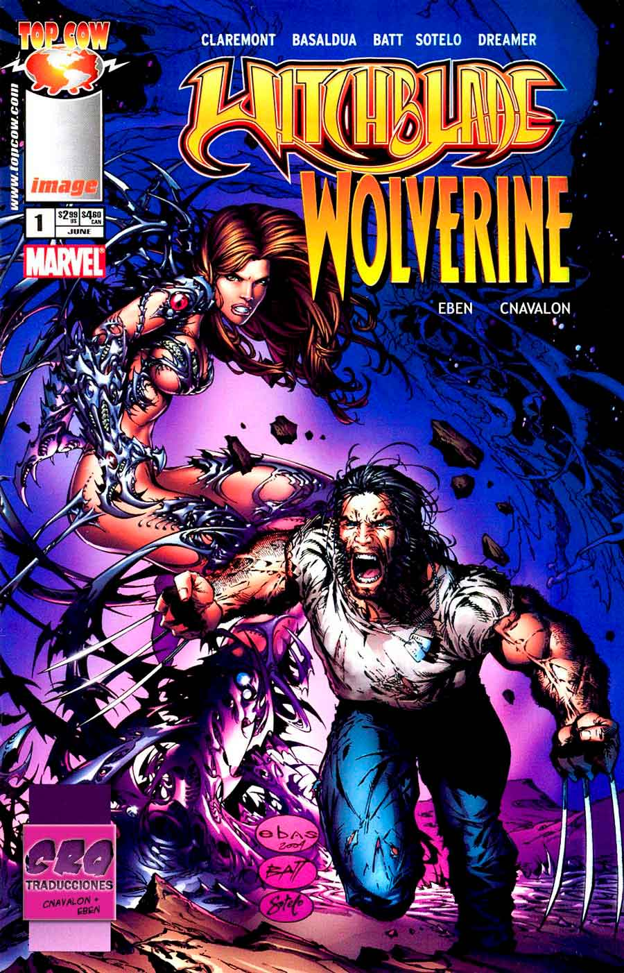 Wolverine y Witchblade crossover