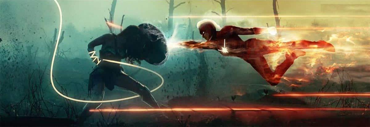 Espectacular Fan Art de Capitana Marvel vs Wonder Woman