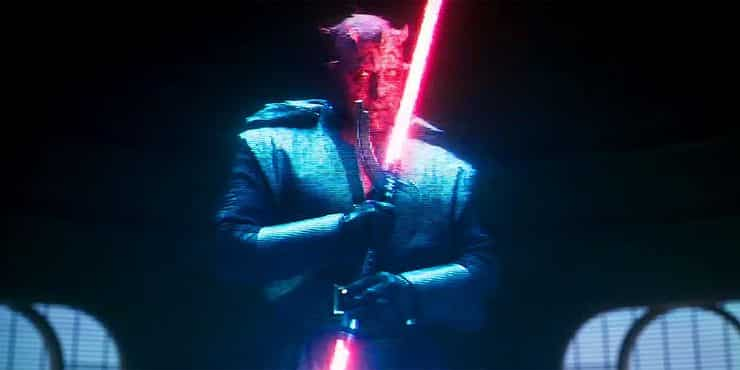 darth maul en Solo: Una historia de Star Wars