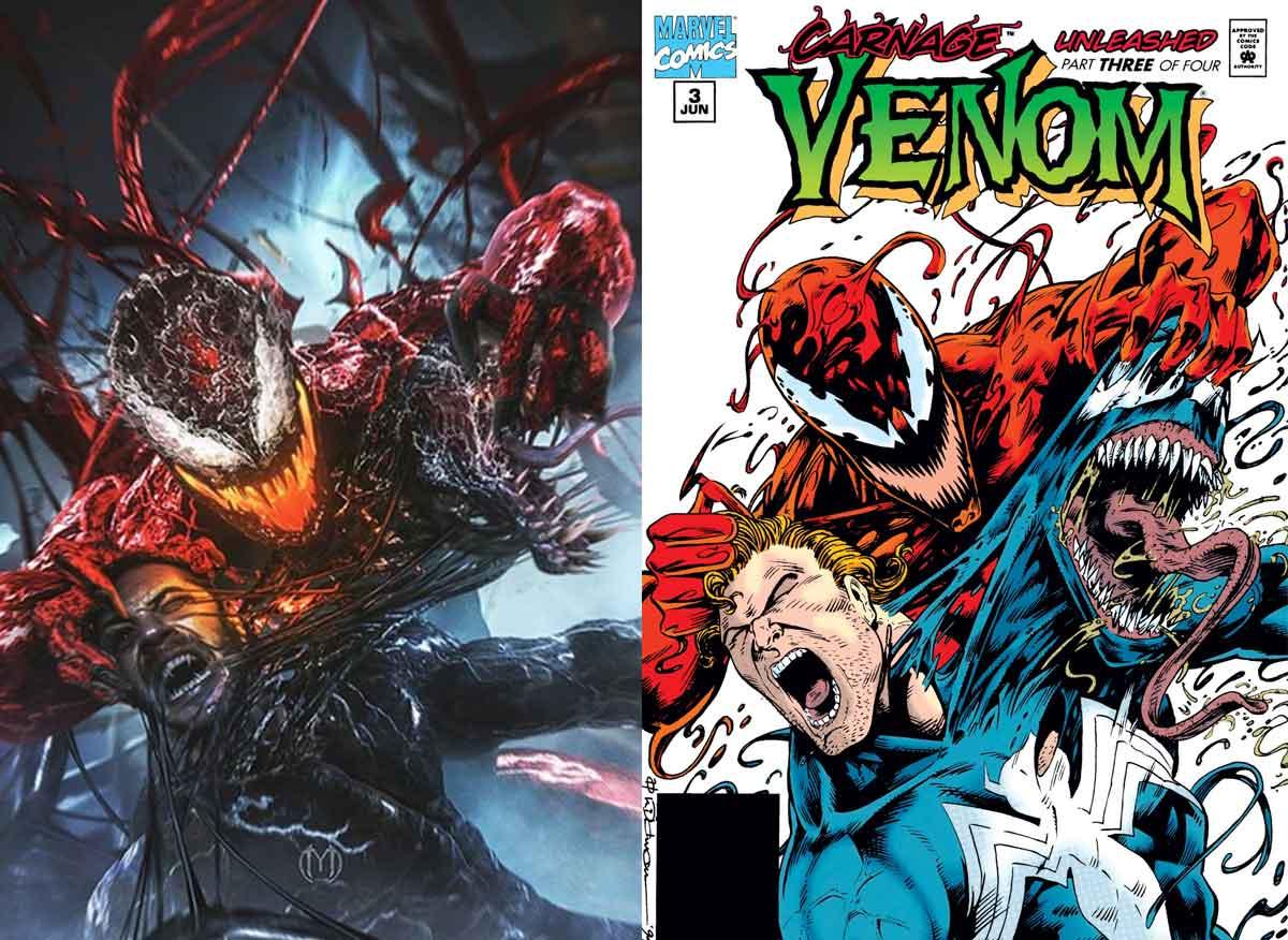 Espectacular Fan Art de Venom 2 imitando una famosa portada de cómic