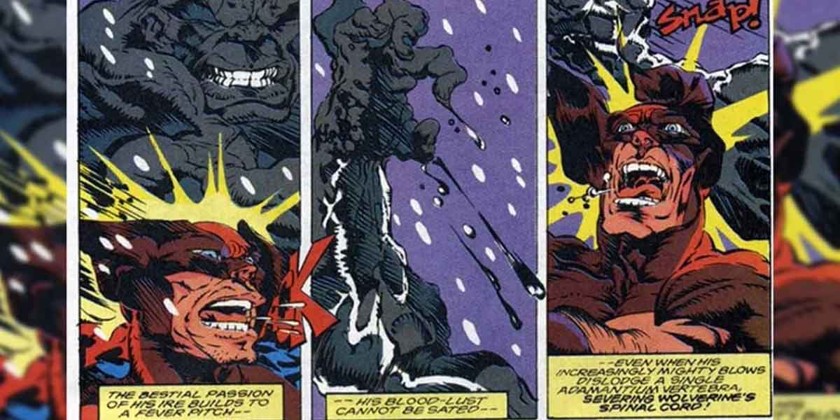 Hulk mató a Wolverine de una forma brutal