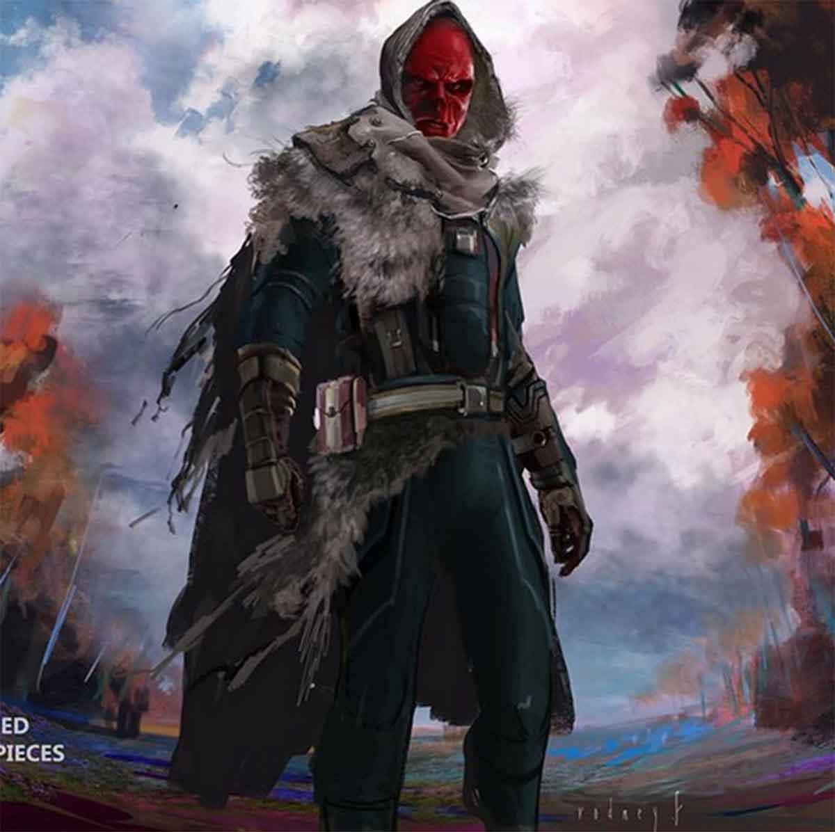 Diseño alternativo de Cráneo Rojo en Vengadores: Infinity War
