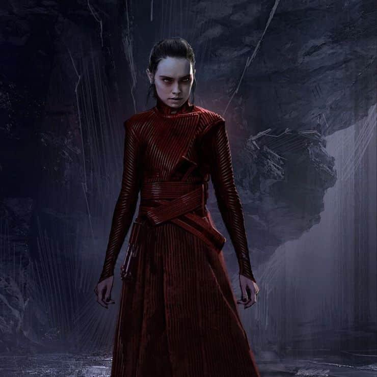 Concept art Dark Rey traje rojo guardia pretoriana del líder supremo