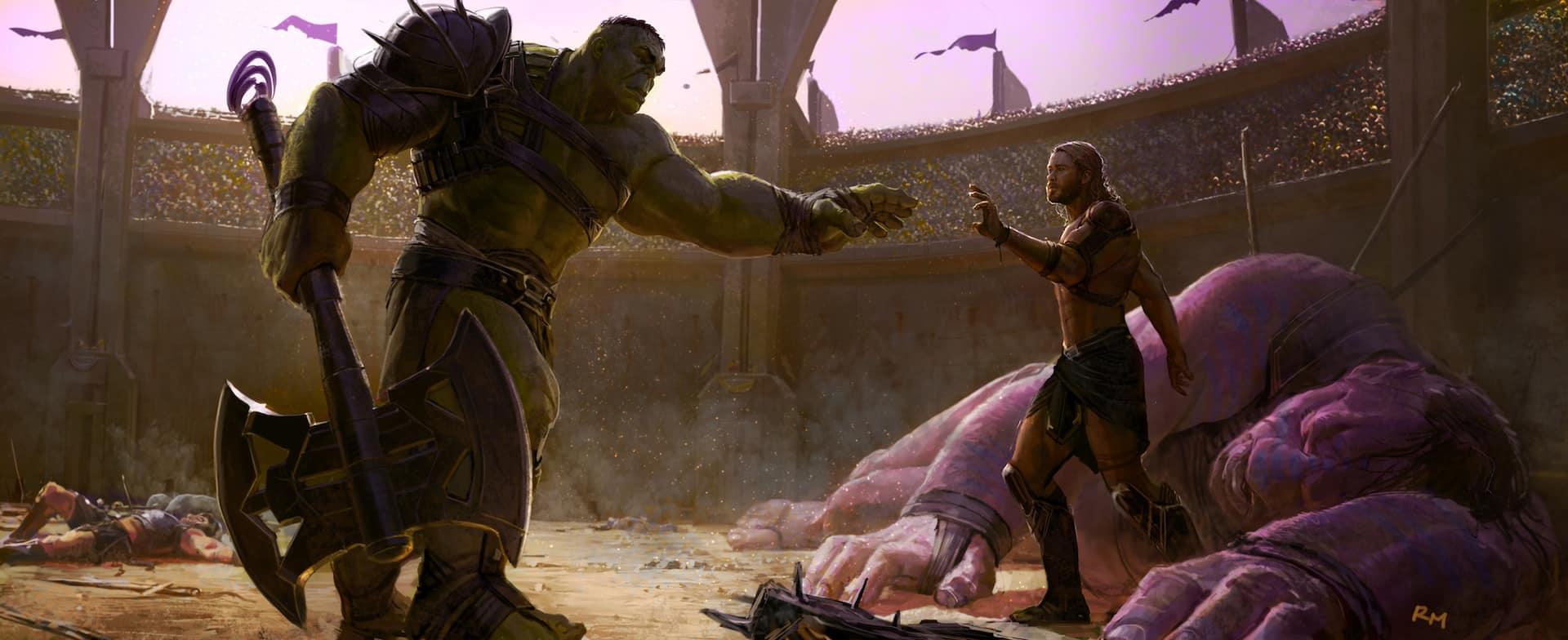 Thor: Ragnarok ryan meinerding hulk vs thor