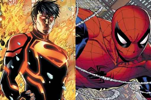 Así es la lucha de Spider-Man contra Superboy