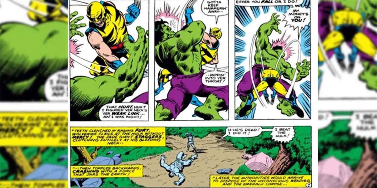 Wolverine mató a Hulk de una forma brutal