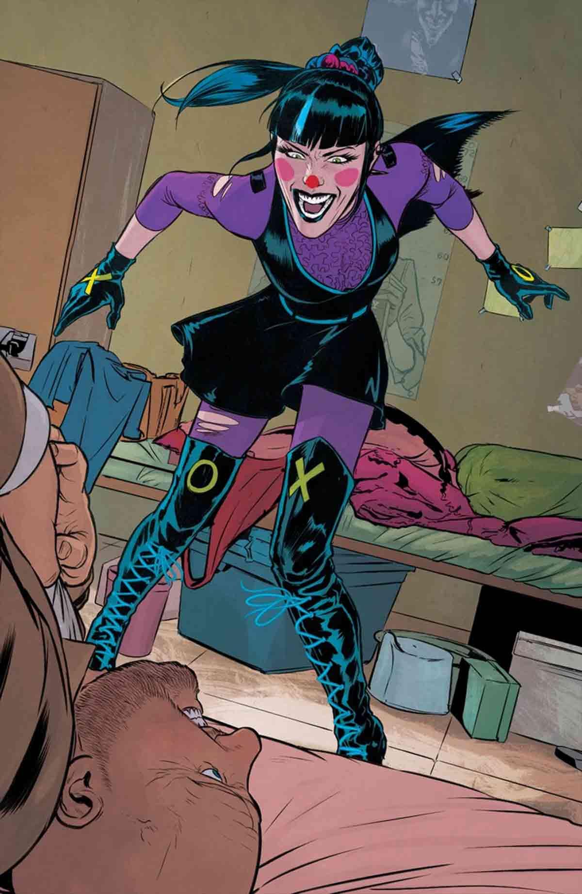 El violento origen de Punchline, la nueva novia del Joker