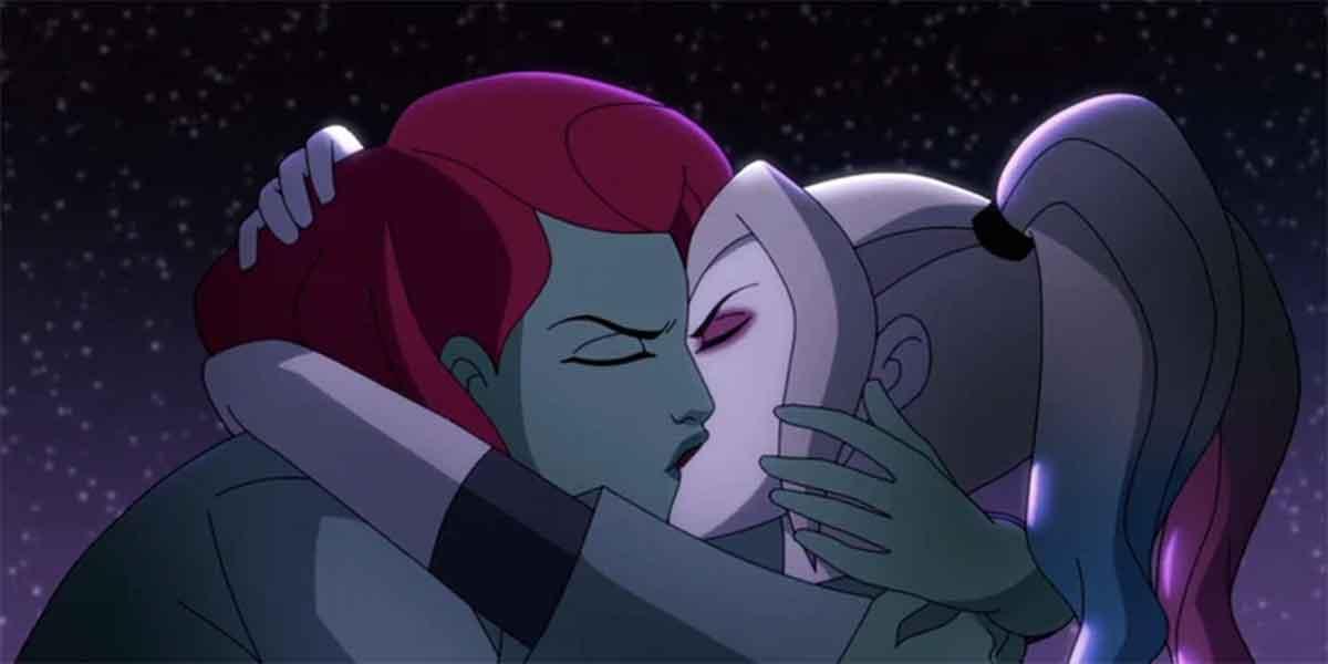 Harley Quinn y Posion Ivy se besan por primera vez en la serie de animación