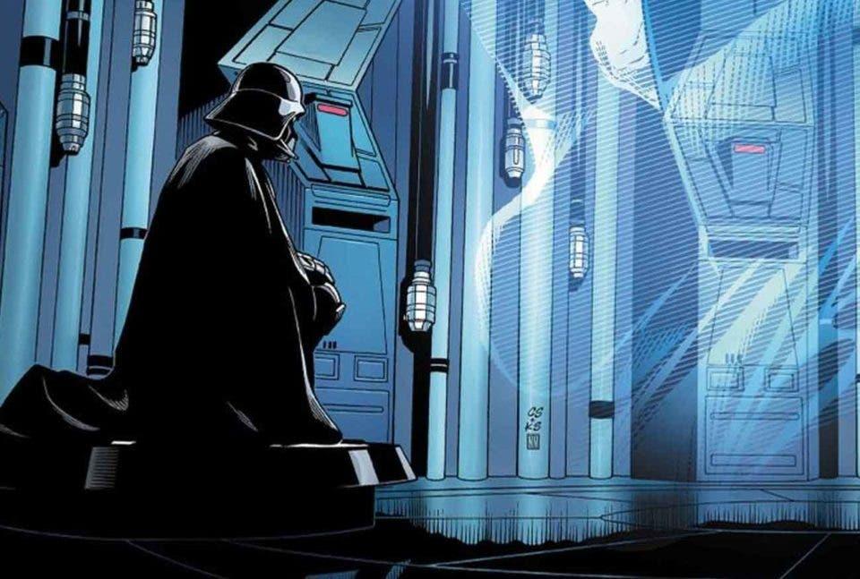 Darth Vader se arrodilla ante Palpatine en el nuevo cómic de Star Wars