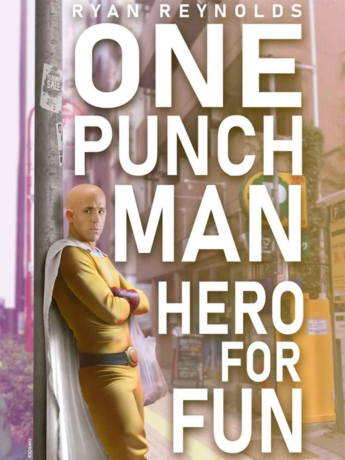 Espectacular Fan Art de One-Punch Man de acción real con Ryan Reynolds como Saitama