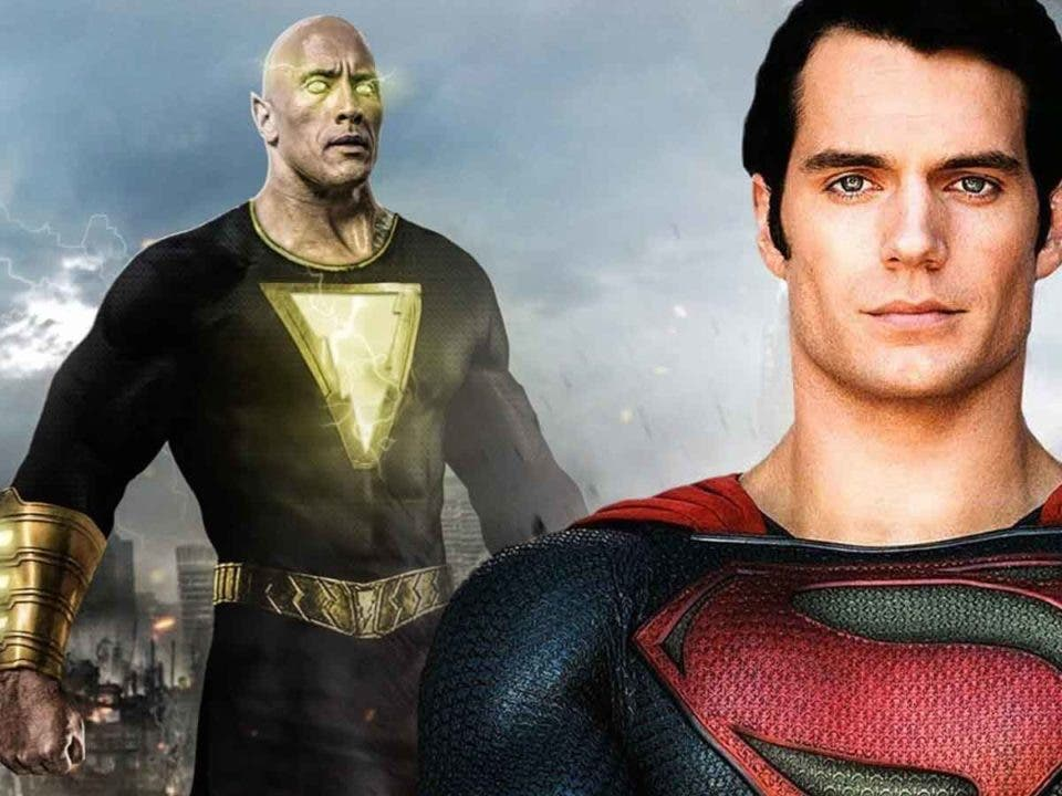 Espectacular Fan Art de Superman (Henry Cavill) vs Black Adam (Dwayne Johnson)