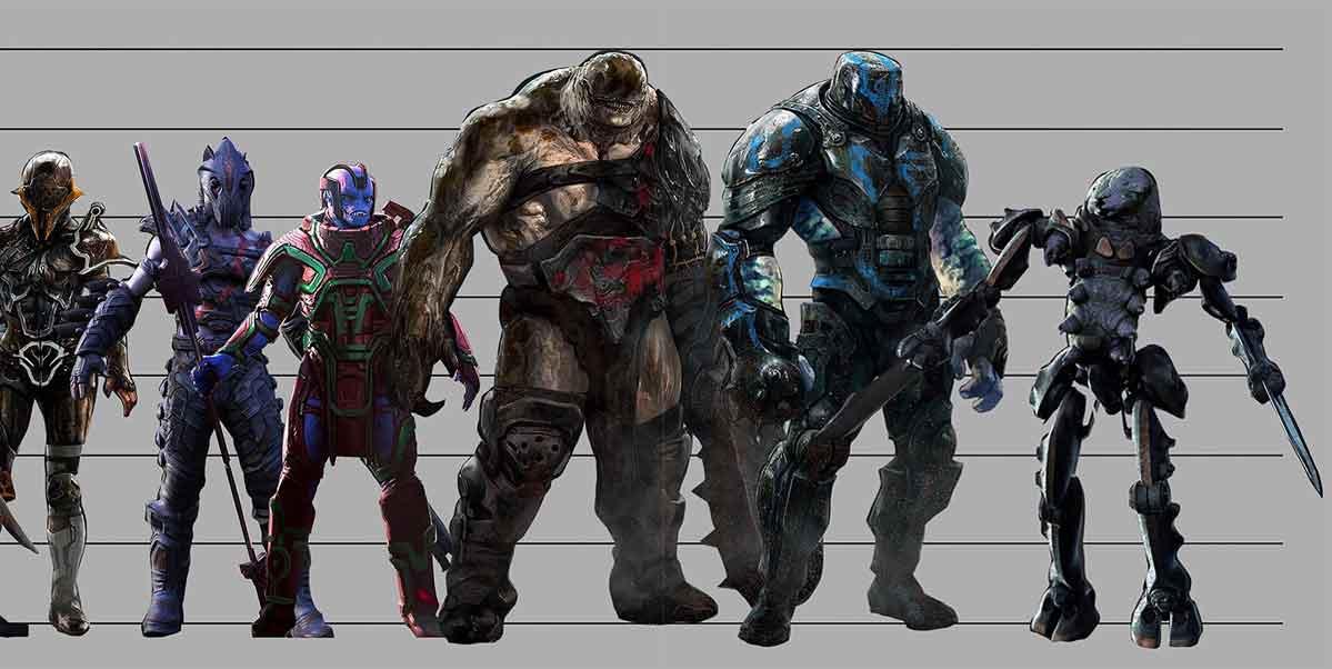Thor: Ragnarok revela el aspecto de todos los gladiadores de la arena
