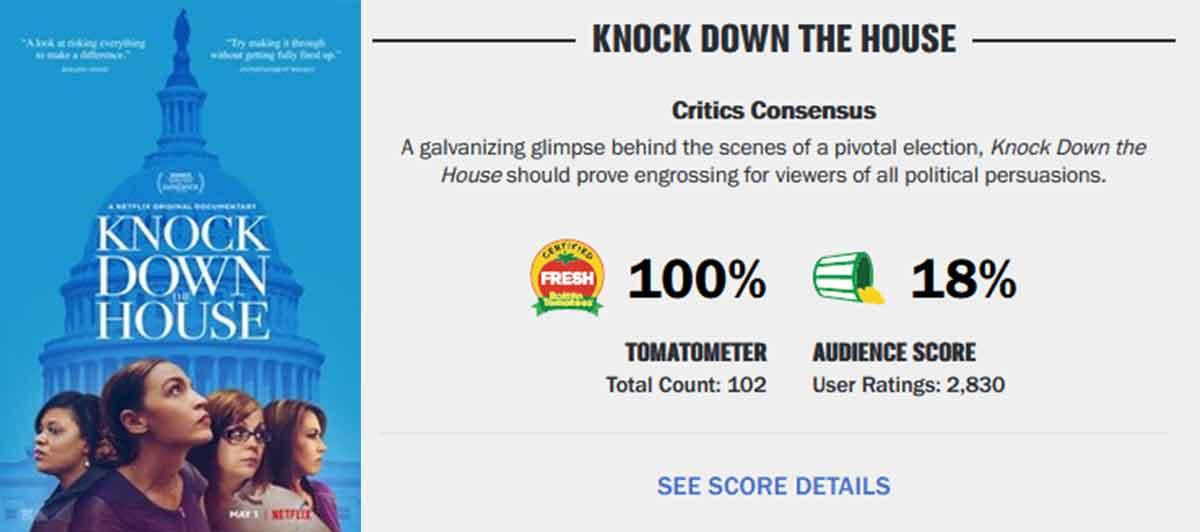¿Cuál es la película de cine que más ha dividido a critica y espectadores?