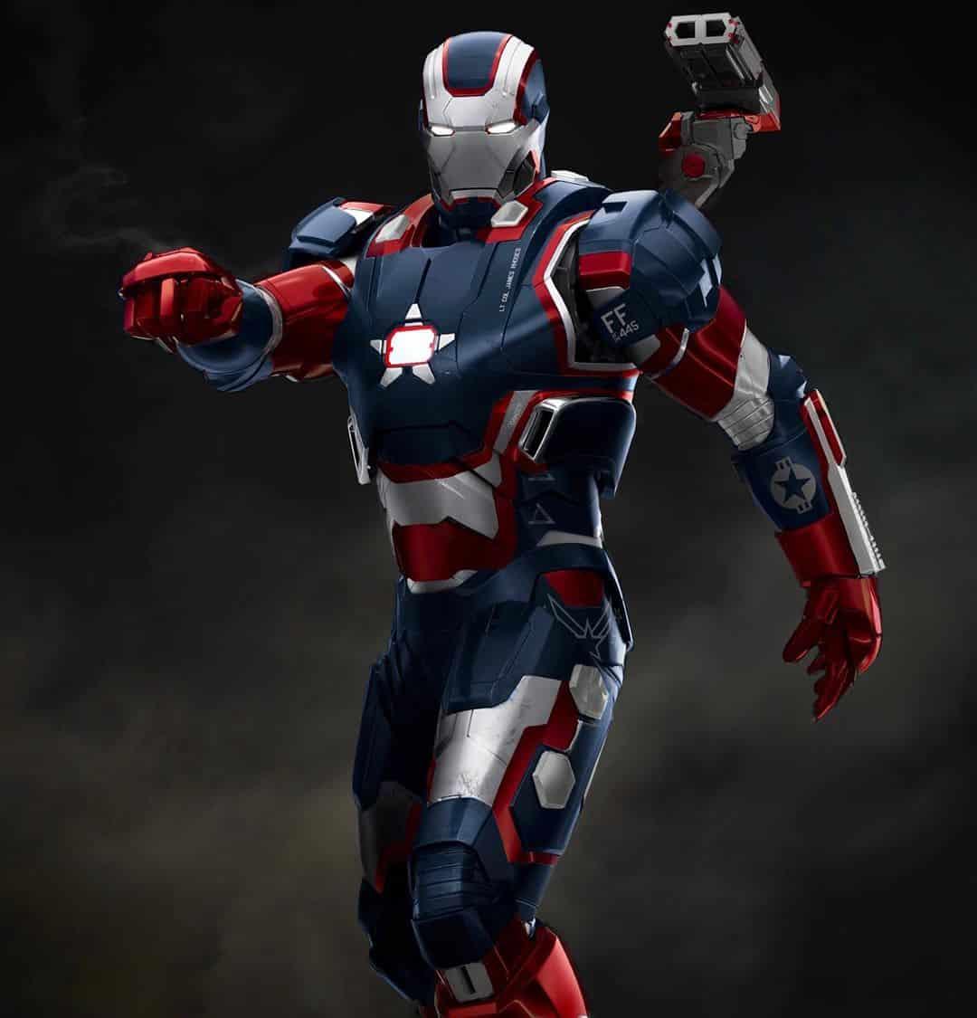 diseño de Iron Patriot. Iron Man 3
